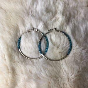 Lucky Brand hoop earrings